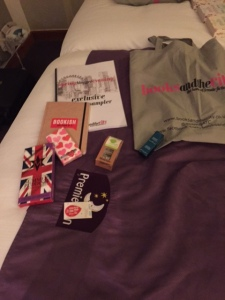 The contents of the goody bag