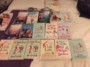My book haul! This seemed like a good idea until I had to lug them across London on the tube the next day!