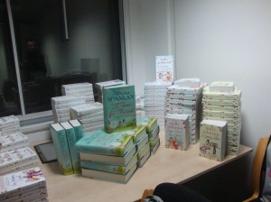 """Some of the books we were allowed to """"help ourselves"""" to!"""